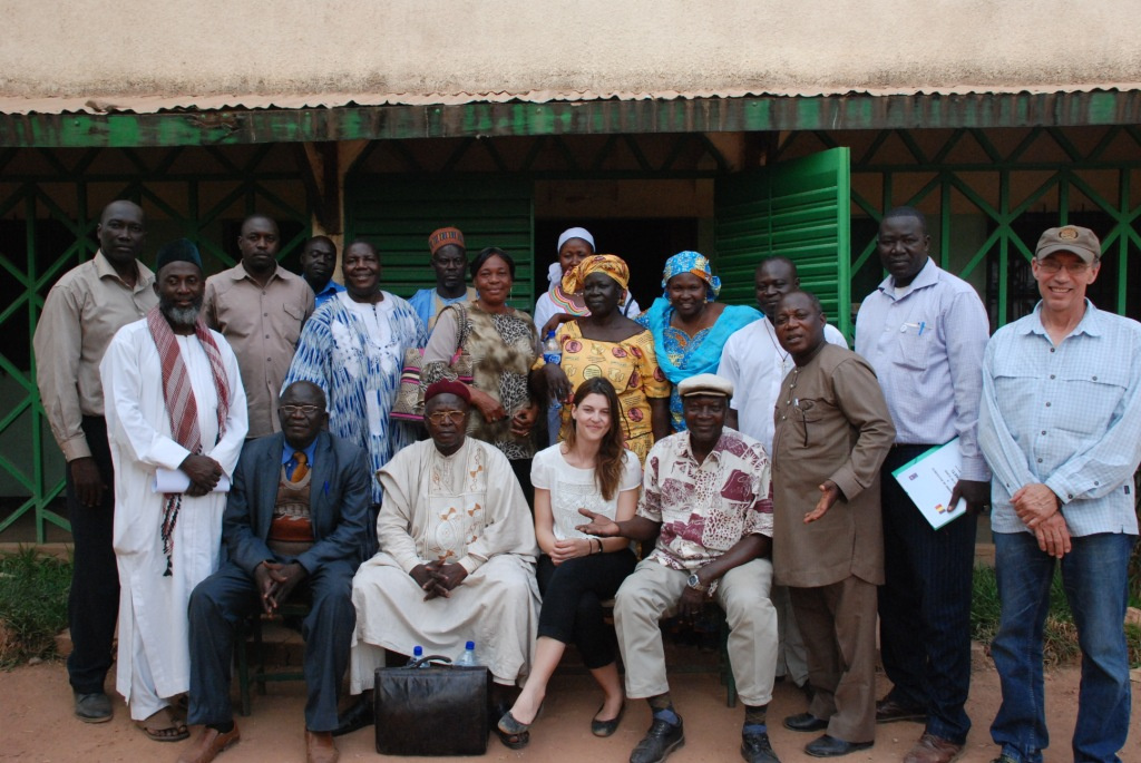 Participants and UN staff at the workshop in Moundou, southern Chad, with Imam Muhammad Ashafa and Pastor James Wuye (Photo: Alan Channer)