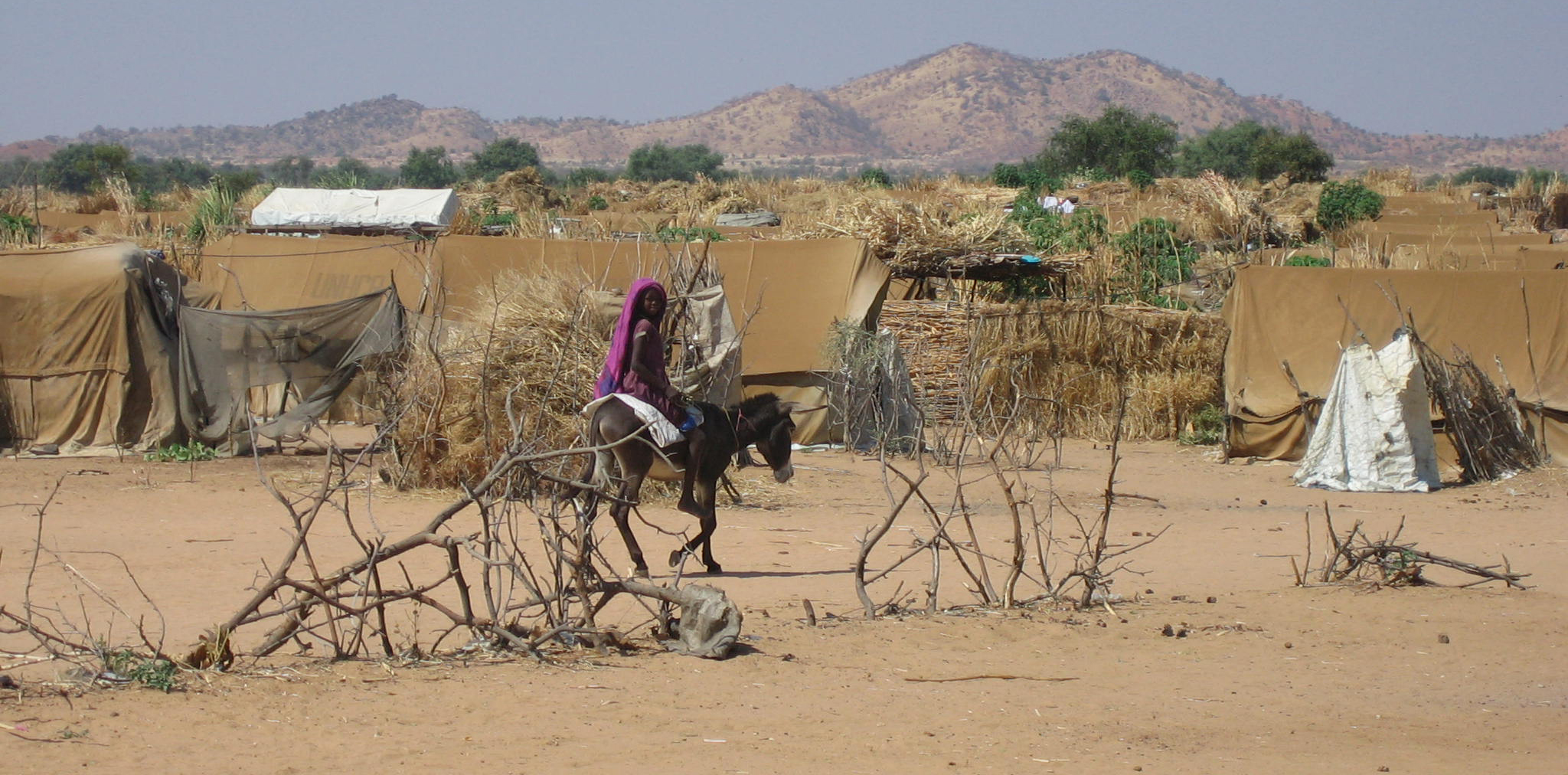Refugee camp in eastern Chad, bordering Darfur.  Photo with kind permission of CORD UK