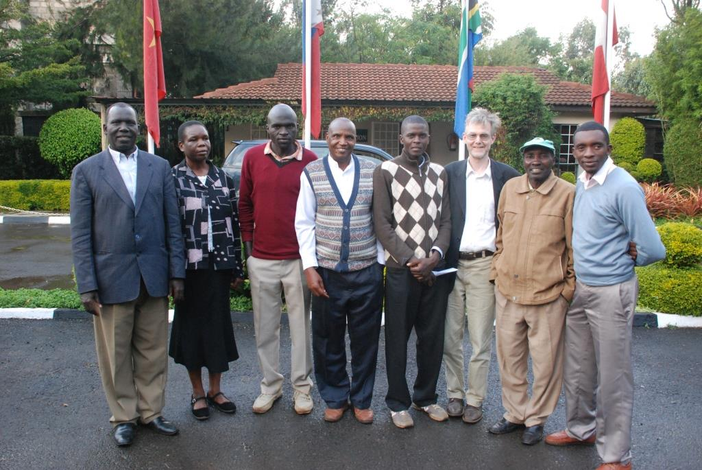 Some of the IofC network in Eldoret with Joseph Wainaina (fourth right) and peacebuilding film-maker Dr Alan Channer (sixth right)