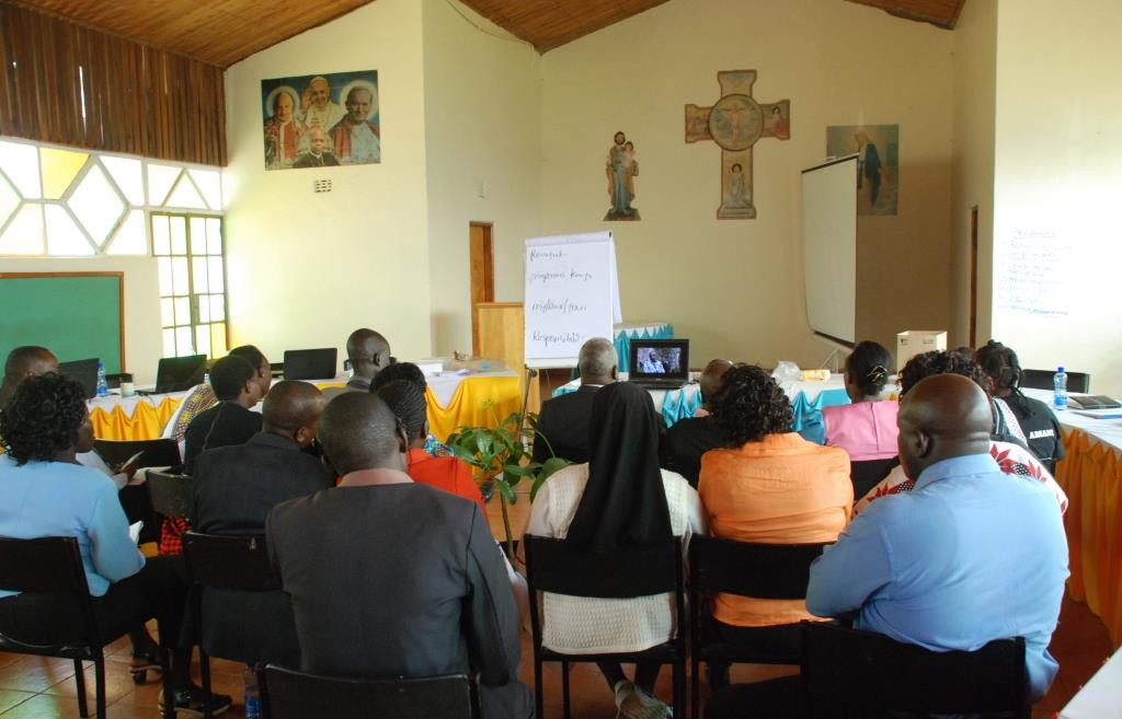 Screening of the film by the Catholic Justice and Peace Commission in Nakuru