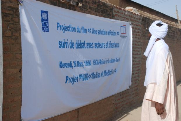 An African Answer is screened in Abéché, eastern Chad