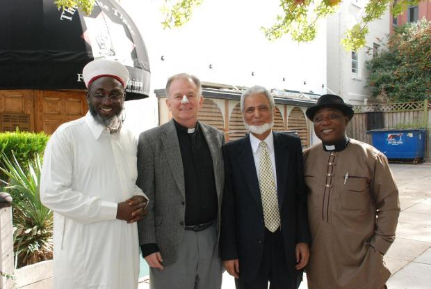 Pastor James and Imam Ashafa with Chaplain to the United States House of Representatives, Rev Patrick Conroy and Dr Sayyid M Syeed, National Director, Office for Interfaith & Community Alliances for the Islamic Society of North America (ISNA)