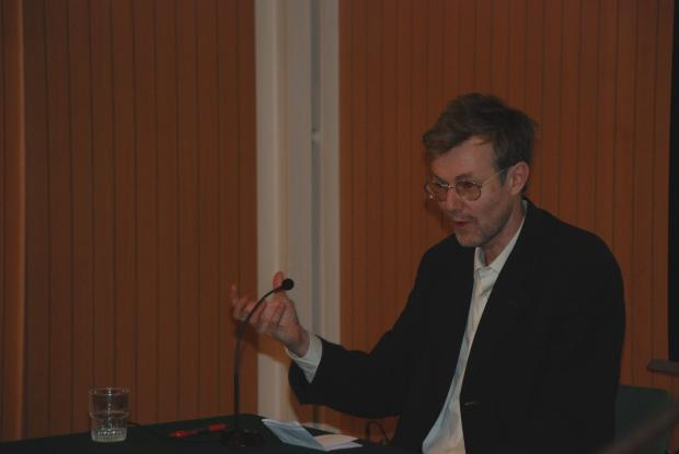 Dr Alan Channer speaking at showing of An African Answer showing at Greencoat Place 1 March 2011