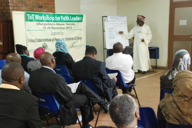 Imam Muhammad Ashafa training faith leaders in Nairobi