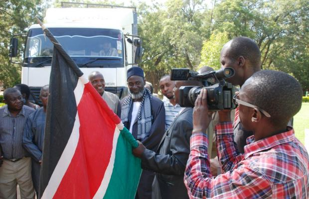 The caravan is flagged off by DC Christopher Wanjau