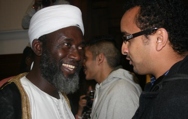 Imam Muhammad Ashafa talks with a member of the audience