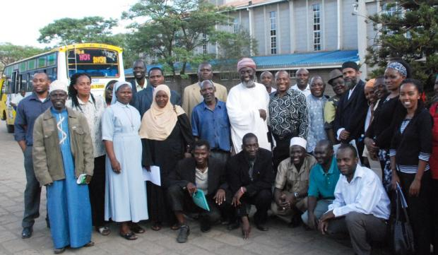 Workshop participants at St Theresa's Church in Eastleigh.