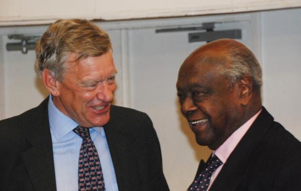 Sir Jeffrey James and Charles Njonjo
