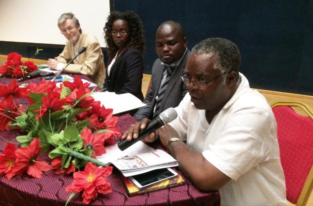 Right - Adalbert Otou-Nguini, President of the IofC Association of Cameroon