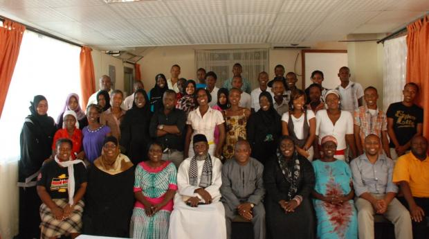 Group photo following workshop for youth