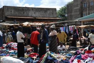 Trade is thriving between the Kikuyu and Kalenjin communities in the re-integrated market of Burnt Forest (Photo: Alan Channer)