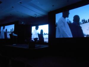 Excerpts of The Imam and the Pastor and An African Answer were screened to an audience of 500 people