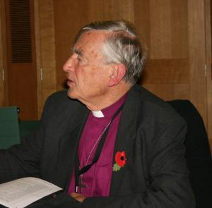 Rt Rev Richard Harries, former Bishop of Oxford, at the parliamentary reception for Imam Ashafa and Pastor James (Photo: Louise Jefferson)