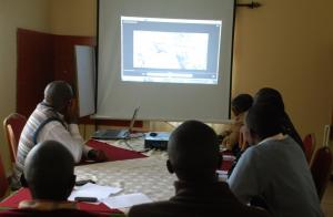 A team in Eldoret meets to plan the launch of the film