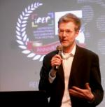 Dr Alan Channer speaking at the 5th iREP International Documentary Film Festival in Lagos, Nigeria, 21 March