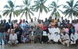 Group photo following the workshop for religious leaders and mothers.